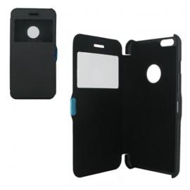 Etui type portefeuille avec fenêtre pour iPhone 6 Plus Noir