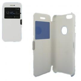Etui type portefeuille avec fenêtre pour iPhone 6 Plus Blanc