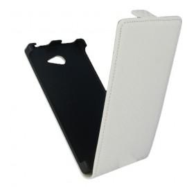 Etui style carbone blanc Sony Xperia M2