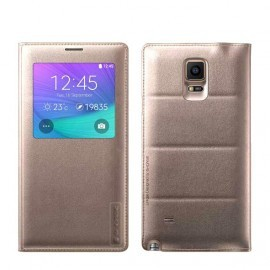 Etui Folio Back Cover G-Case Gold pour Galaxy Note 4
