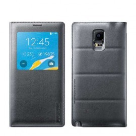 Folio Back Cover G-Case Gris pour Galaxy Note 4 GCASE-NOTE4E001-GRY