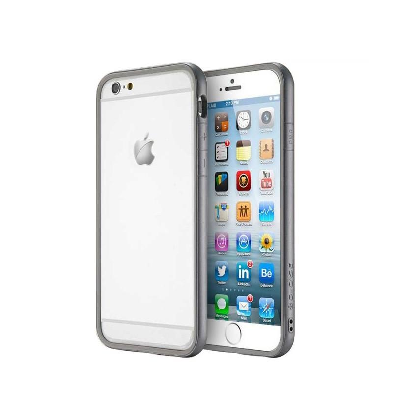 bumper g case invisible gris pour iphone 6 pretaportable. Black Bedroom Furniture Sets. Home Design Ideas