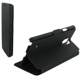 Housse portefeuille latérale avec support pour Samsung Galaxy Note 4 - Noir