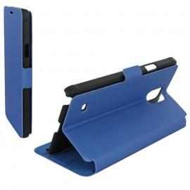 Housse portefeuille latérale avec support pour Samsung Galaxy Note 4 - couleur Azur