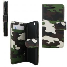 Etui Folio Aspect militaire +Porte Cartes Krussel pour iPhone 6
