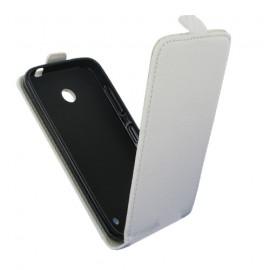 Etui style carbone à rabat pour Nokia Lumia 630/635