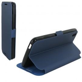 Folio Articulé Bleu pour HTC Desire 816