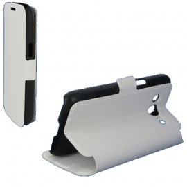 Etui Folio Stand Blanc pour Samsung Galaxy Core 4G