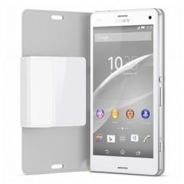 Etui Folio Blanc Fenetre Origine Sony pour Xpéria-Z3 Compact