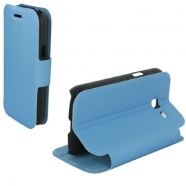 Book case stand pour Samsung Trend Lite - Turquoise