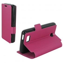Etui portefeuille pour Sony Xperia E1 - Fuchsia