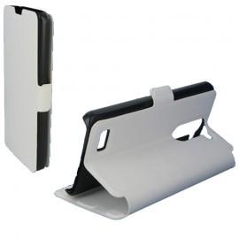 Etui portefeuille pour LG L-Bello Blanc
