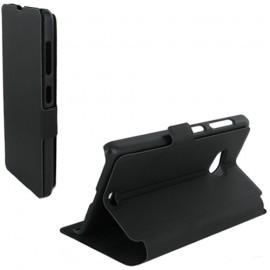 Etui portefeuille pour Nokia Lumia 535 - Noir