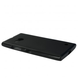 Coque siliconne Double Mat pour Nokia Lumia 730/735 - Noir