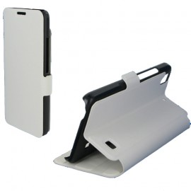 Etui portefeuille pour Huawei G620S - Blanc